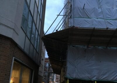 Scaffolding and netting